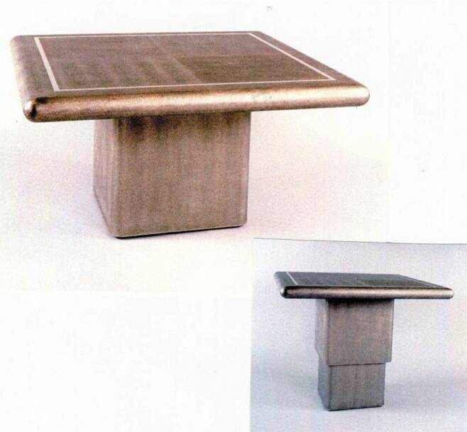 Charmant F 453 Hi/low Table Table In Lizard W/remote Mechanism 36u201d Square
