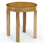"Paul End Table In Snakeskin 16"" Diameter x 17"" High with 1½"" Leg and 2¼"" Apron Available in Custom Sizes & Finishes <A HREF=""http://www.imambience.com/Paul_Round_EndTable_Snakeskin_TearSheet.pdf""><b>Click Here </b></A>to view and download tearsheet"