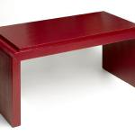 "Vergara Coffee Table  In C.O.M.. 40"" Wide x 20"" Deep x 18"" High Available in Custom Sizes & Finishes <A HREF=""http://www.imambience.com/Vergara_Coffee_Table_Red_TearSheet.pdf""><b>Click Here </b></A>to view and download tearsheet"
