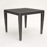 "Jeffries Card Table Covered in Gray Linen  Size: 36"" Square x 29.5"" High Available in Custom Sizes & Finishes  <A HREF=""http://www.imambience.com/JeffriesTable_TearSheet.pdf""> <b>Click Here </b></A>to view and download tearsheet"