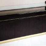 "F444A Stanleigh Cabinet In Lacquer and Brass 72"" Wide x 20"" Deep x 34"" High Available in Custom Sizes & Finishes <A  HREF=""http://www.imambience.com/F444A_Stanleigh_Cabinet.pdf""><b>Click here</b> </A>to view and download tearsheet."