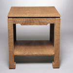 "T201 Chippendale Table Lacquered Linen with One Drawer and One Shelf 24"" Square x 26"" High Available in Custom Sizes & Finishes <A  HREF=""http://www.imambience.com/T201_Chippendale_Table.pdf""><b>Click here</b> </A>to view and download tearsheet."