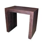 "T207 Parsons Table Embossed Crocodile Leather 26"" Wide x 16"" Deep x 24"" High Available in Custom Sizes & Finishes <A  HREF=""http://www.imambience.com/T207_Crocodile_Parsons_Table.pdf""><b>Click here</b> </A>to view and download tearsheet."