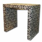 "Janet End Table, available in C.O.M. Size: 26 Wide x 16 Deep x 24"" High.   Custom Sizes and Finishes Available <A  HREF=""http://www.imambience.com/JanetEndTable_TearSheet.pdf""><b>Click here</b> </A>to view and download tearsheet."