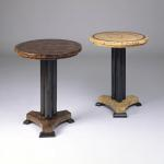 "F 330 Empire Tables Bark black fill, Totuma black Fill 18""diameter x 22"" high. Available in Custom Sizes & Finishes <A  HREF=""http://www.imambience.com/F330_Empire_End-Tables.pdf""><b>Click here</b> </A>to view and download tearsheet."