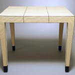 "IW Card Table. Lacquered Linen with Detailing. 36"" Square x 29.5"" High Available in Custom Sizes & Finishes. <A  HREF=""http://www.imambience.com/Linen_IW_card_Table.pdf""><b>Click here</b> </A>to view and download tearsheet."