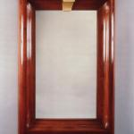 "M405 Mirror in Mahogany with Gold Leaf Keystone Size: 36"" Wide x 56"" High Custom Sizes and Finishes Available <A  HREF=""http://www.imambience.com/M405_Mahogany_Mirror.pdf""><b>Click here</b> </A>to view and download tearsheet."