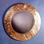 "M426 Mirror In Gold Leaf 48"" Diameter Available in Custom Sizes & Finishes <A  HREF=""http://www.imambience.com/M426_Gold-Leaf_Mirror.pdf""><b>Click here</b> </A>to view and download tearsheet."