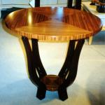 "Lebasi Table in Zebrawood 26"" Diameter x 28"" High Available in Custom Sizes & Finishes <A  HREF=""http://www.imambience.com/Lebasi_Table_Zebrawood.pdf""><b>Click here</b> </A>to view and download tearsheet."